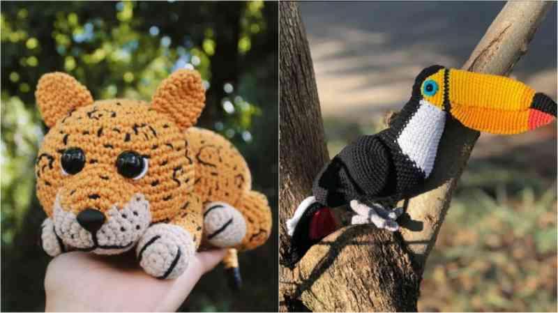 Projeto arrecada doações para o Pantanal com guia para criar animais de crochê