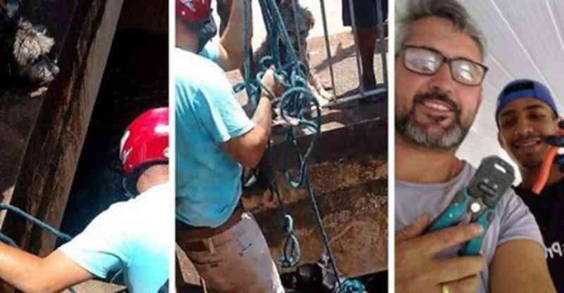 Vídeo: Homem arrisca-se e salva dois cães que caíram no ribeirão Arrudas, em Belo Horizonte, MG