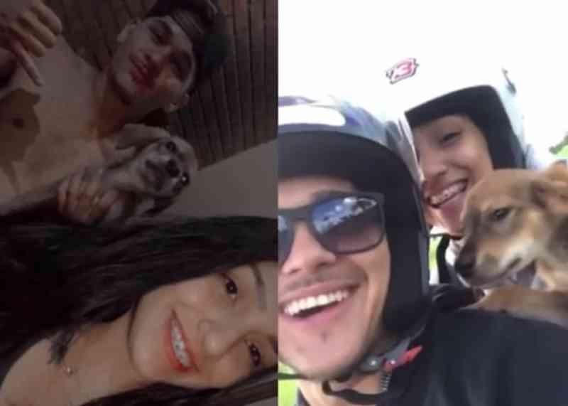 'Vamo embora perdido': casal bomba na internet após postar vídeo resgatando cachorrinho
