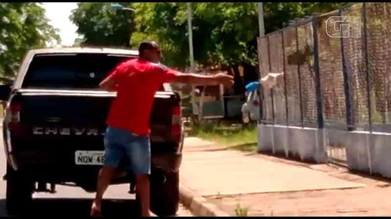 Casal é flagrado abandonando gata e filhotes na área externa do Parque da Cidade, em Santarém, PA; vídeo