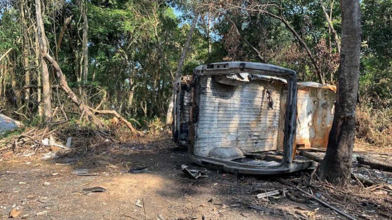 Perícia confirma que van encontrada queimada não é veículo roubado com 70 gatos