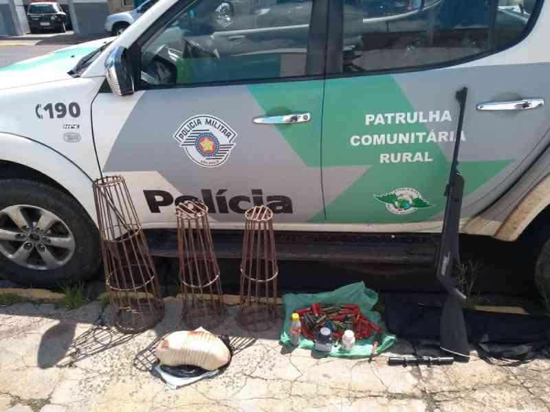 Polícia autua suspeito de matar animal silvestre e porte ilegal de munições em Charqueada, SP