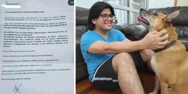 Moradores da zona sul de SP recebem cartas com ameaças contra cães: 'Seu cachorro será morto silenciosamente'