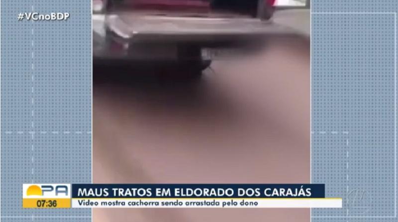 Cachorra é arrastada por veículo no sudeste do Pará; assista ao vídeo