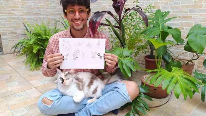 Tatuador de São Vicente, SP, cria projeto para ajudar ONG que atua na causa animal