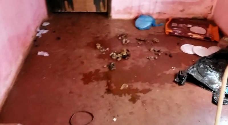 Casa estava com muito lixo e sujeira, com fezes em vários cômodos — Foto: Divulgação/Polícia Civil