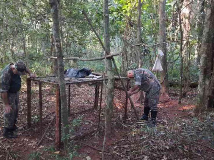 Ambiental apreende armadilha de caça de animais silvestres de grande porte em Navirái, MS