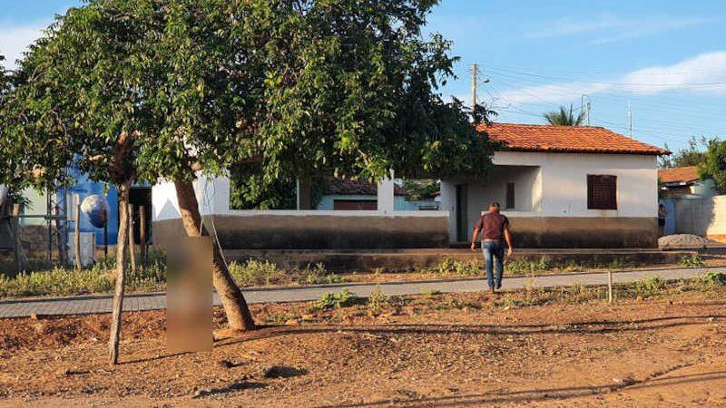 Homem mata cachorra enforcada em praça pública em Lagoa do Barro do Piauí