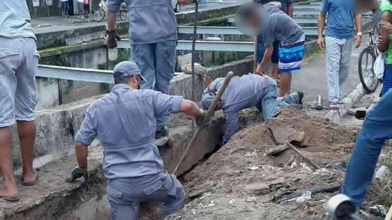 Moradores e bombeiros se unem para resgatar cães soterrados por horas após calçada ceder no litoral de SP