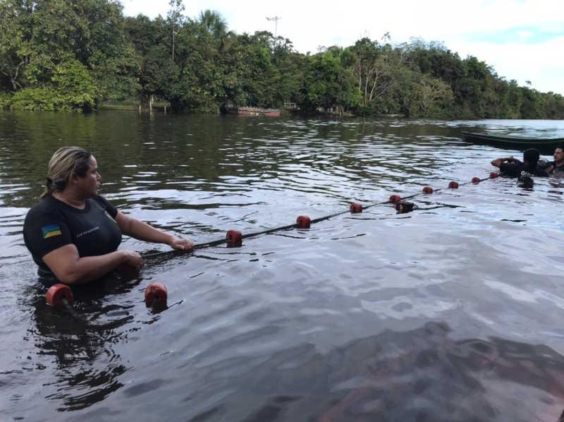 Buscas duraram dois dias no distrito do Ariri, Zona Rural de Macapá — Foto: Instituto Mamirauá/Divulgação