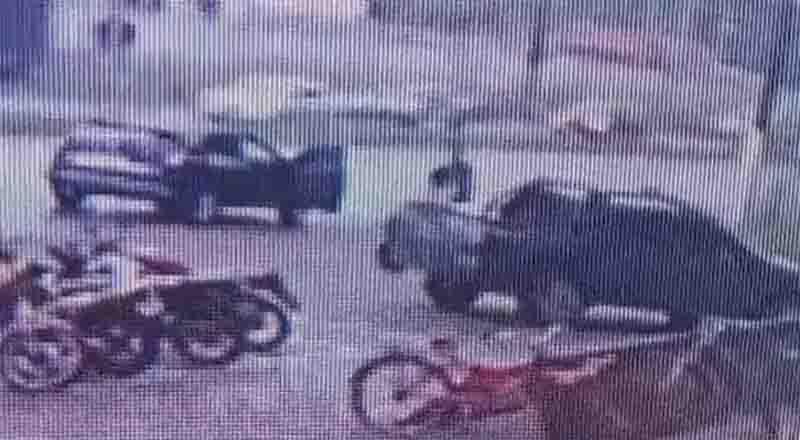 Polícia procura identificar quem abandonou gavião em carroceria de carro na sexta-feira Foto: Reprodução