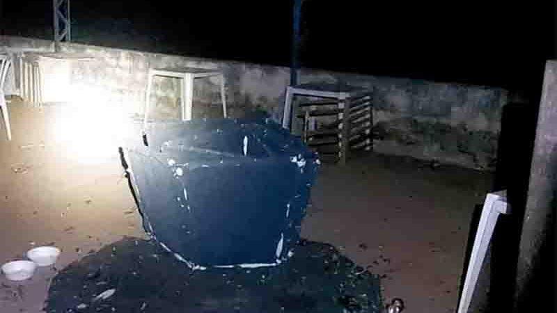 Uma rinha de galo foi fechada no início da noite deste domingo (27) na zona rural de Rondonópolis. Foto: PMMT