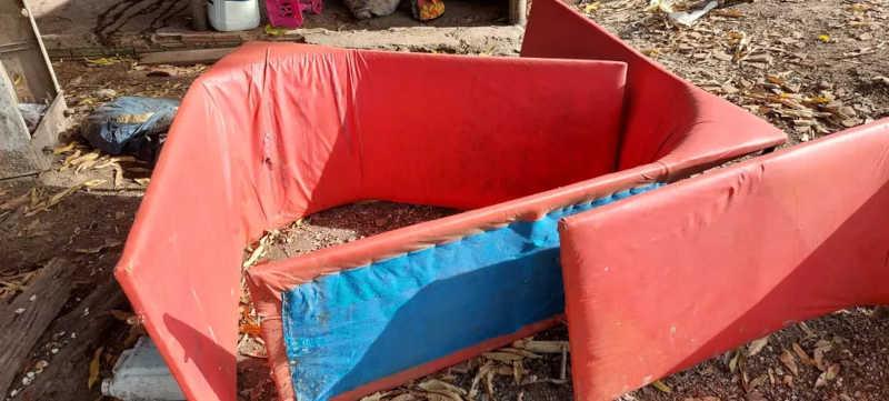 Polícia encontrou local usado para promoção de briga entre galos — Foto: Divulgação/38ª Delegacia de Arapoema