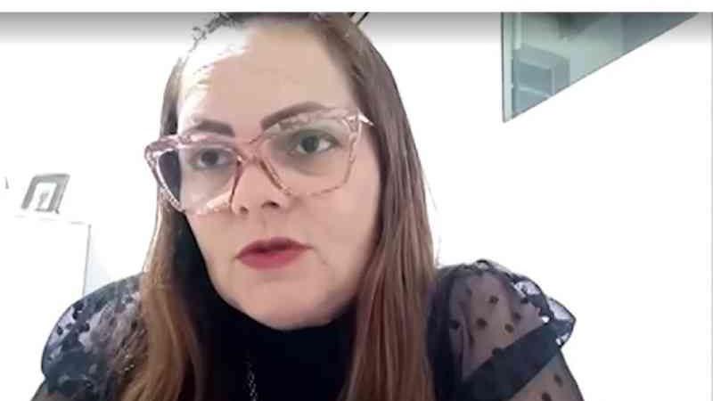 Andréa Oliveira, delegada. — Foto: Reprodução / TV Santa Cruz