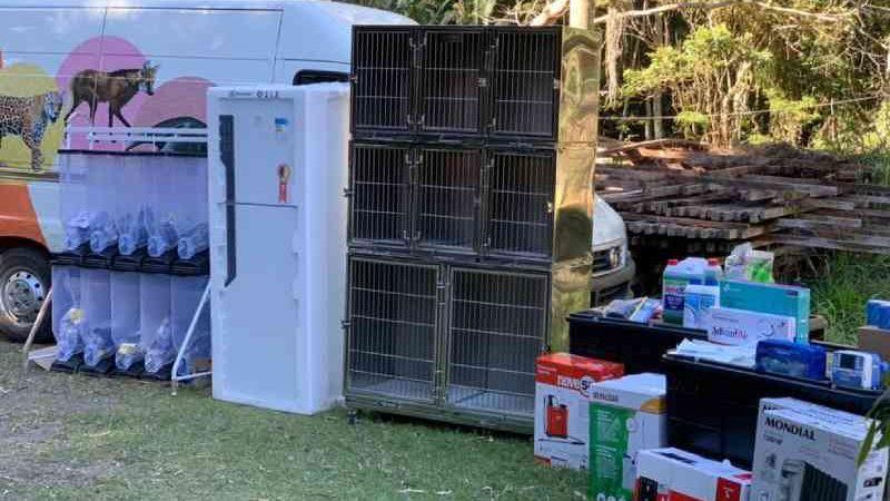 Cetas de Juiz de Fora recebeu doação de equipamentos para recuperação de animais — Foto: MPMG/Divugação