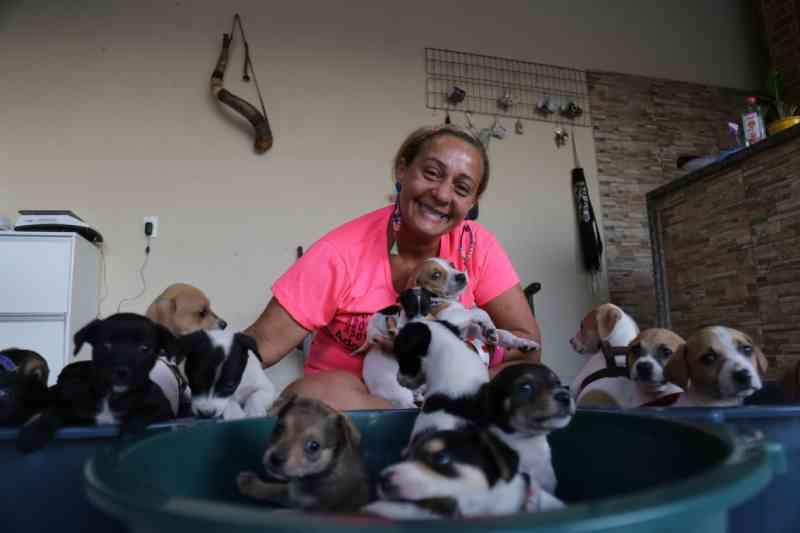 Ligida conta que deve mais de R$ 8 mil em uma clínica veterinária. (Foto: Leonardo França)