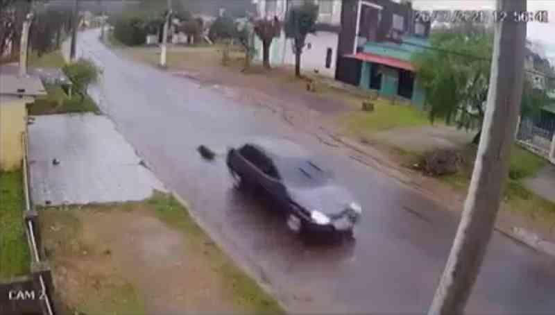 Cão morre após ser arrastado por carro em Santana do Livramento (RS), diz polícia; veja vídeo