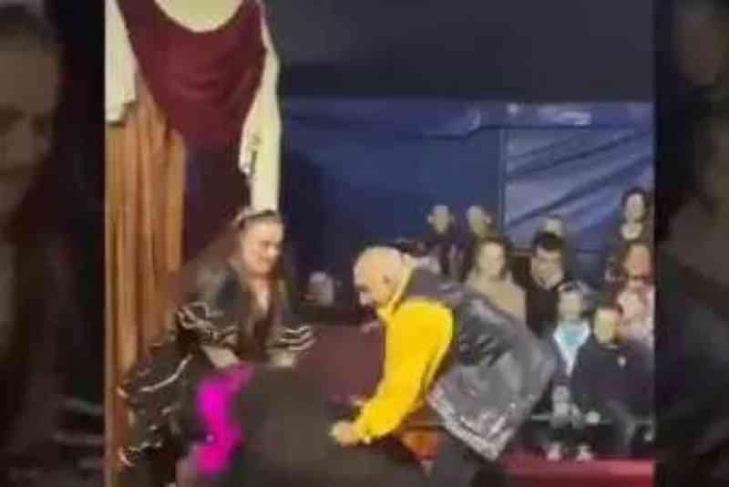 Vídeo mostra urso durante ataque à domadora em circo