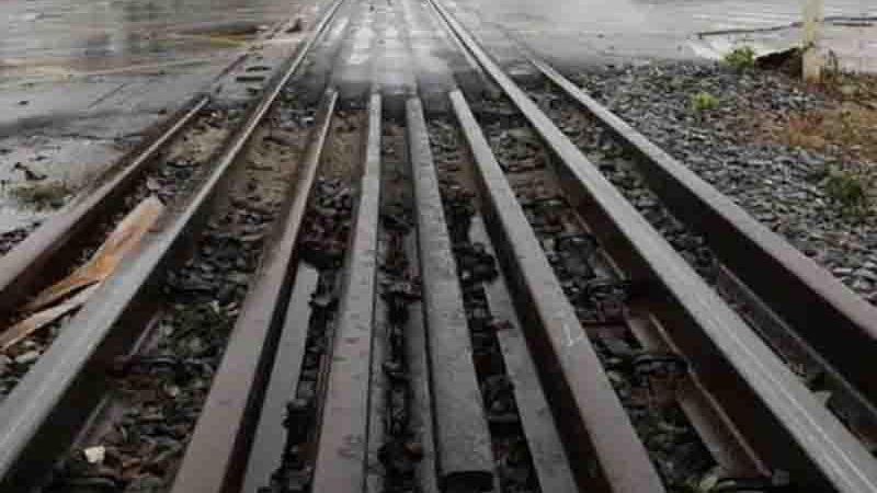 Trilho de trem em Joinville. Foto: Patrick Rodrigues, Arquivo A Notícia.