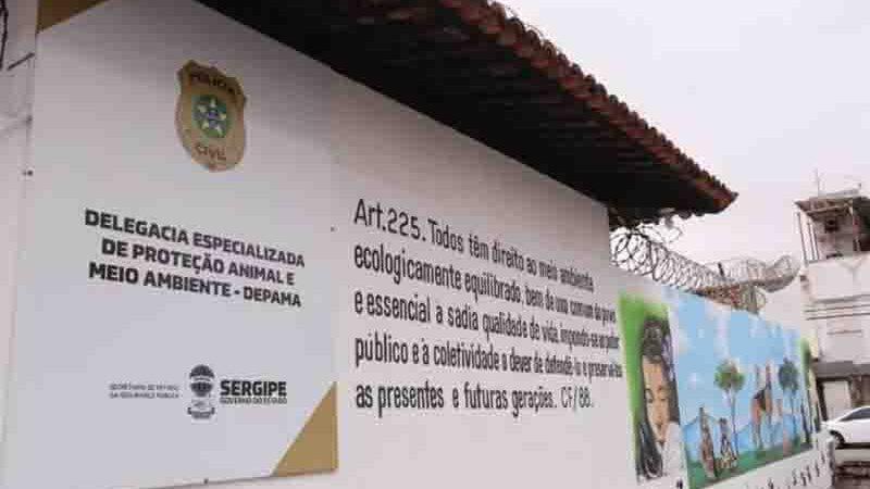 Delegacia de Proteção Animal e ao Meio Ambiente (Depama), em Aracaju. Foto: Divulgação/SSP