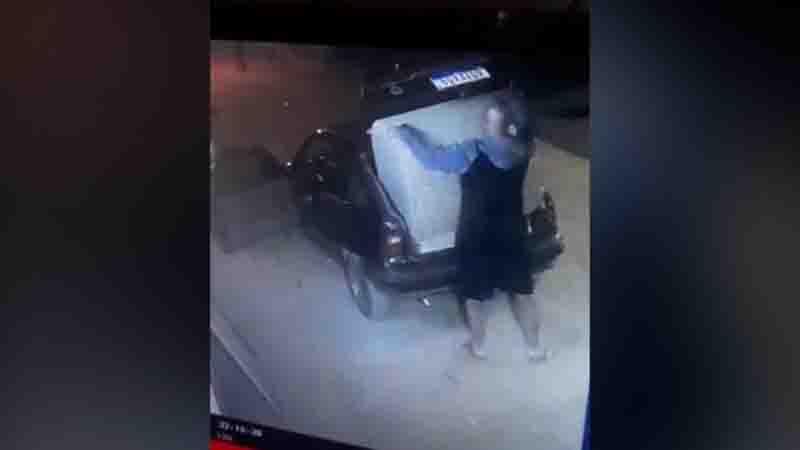 Vídeo mostra homem tentando furtar casinha de cachorro em Campinas, SP