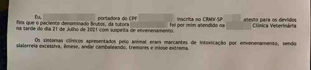 Laudo apontou que cão morreu com sinais de envenenamento em Icém (SP). Foto: Arquivo pessoal