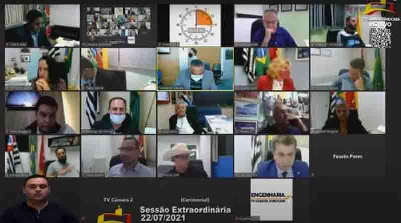 Vereadores aprovaram por 9 votos a 8 projeto de lei que autoriza retorno dos rodeios em Sorocaba. Foto: Reprodução / Youtube