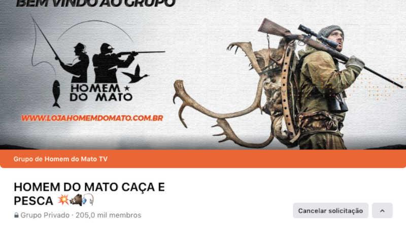 Imagem de capa do maior grupo de caça no Facebook. Reprodução/ Facebook