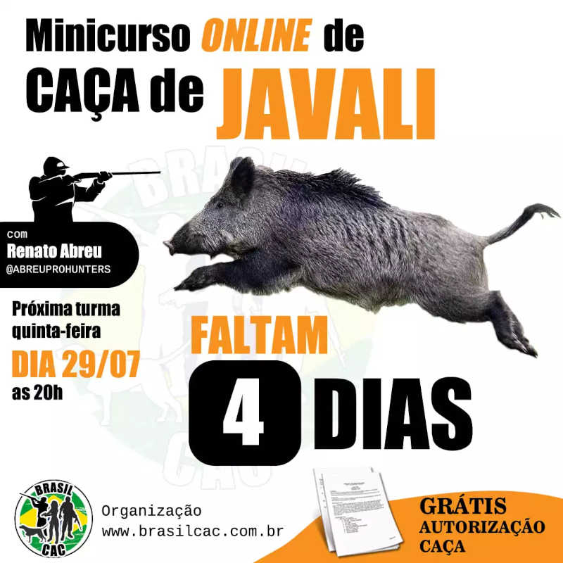 Anúncio publicado em grupos no Facebook oferece como brinde autorização de caça