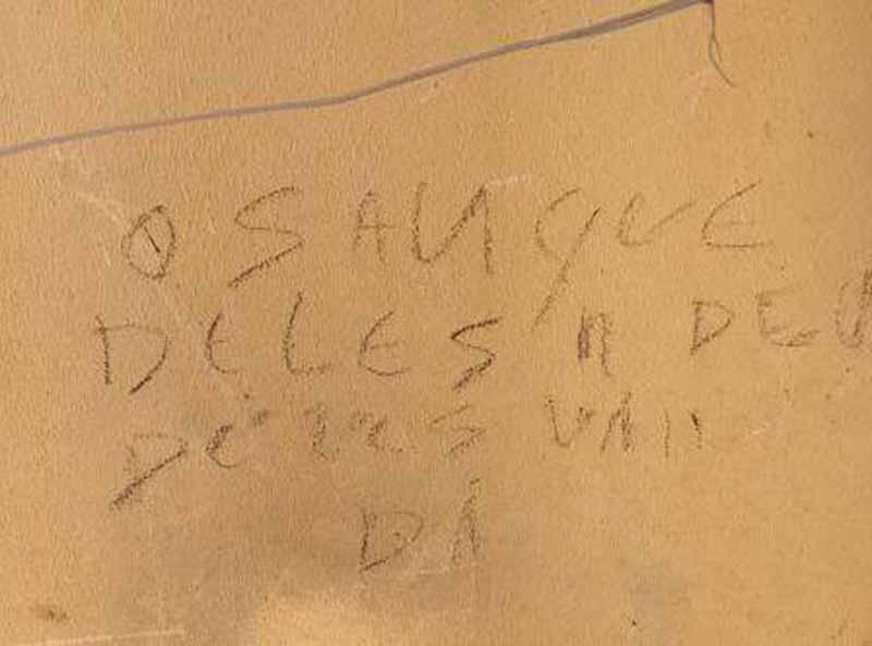 Após briga, vizinho mata cães e escreve em muro com sangue dos animais em GO