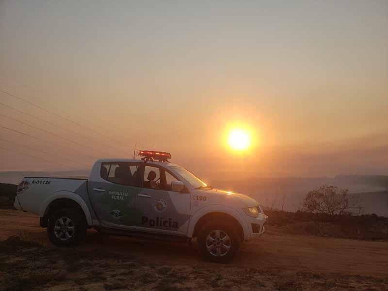 Viatura da Polícia Militar Ambiental no Parque Estadual do Juquery — Foto: Divulgação/Polícia Militar Ambiental de SP