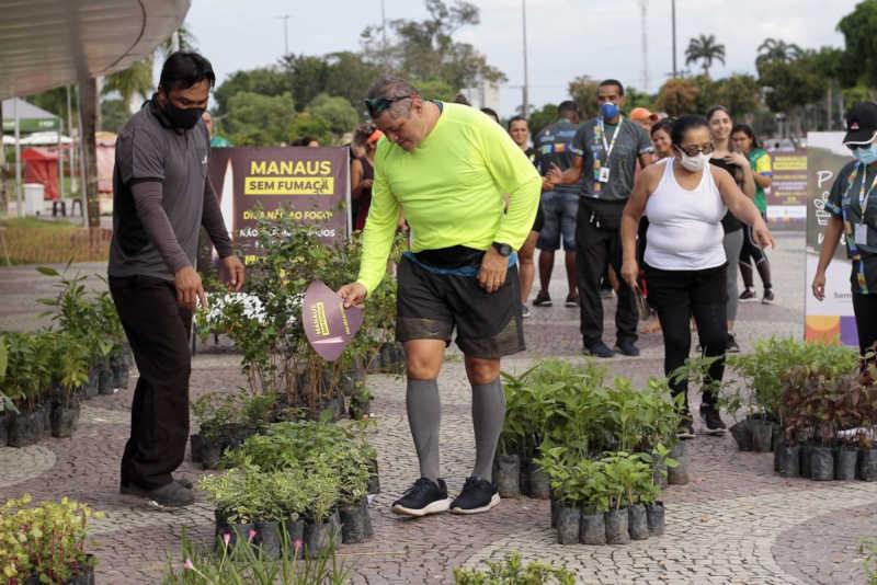 Lançamento da Campanha Manaus sem fumaça (Foto: Altemar Alcântara/Semcom)