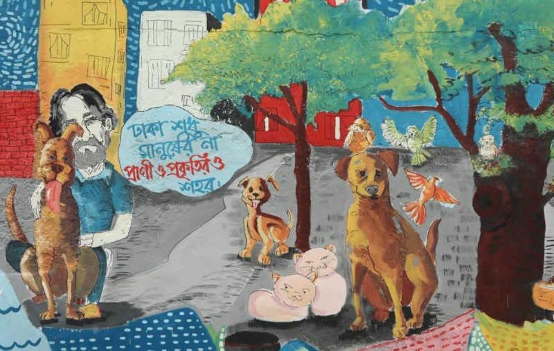 Homem é agredido por protestar contra maus-tratos a animais em Daca, Bangladesh