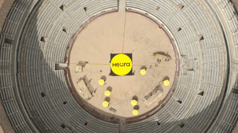 Heura lançou os produtos na La Monumental, a última arena ativa de touradas na Catalunha.