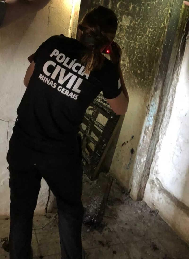 Polícia Civil prende suspeito de colocar fogo em cachorro em Poços de Caldas — Foto: Divulgação/Polícia Civil