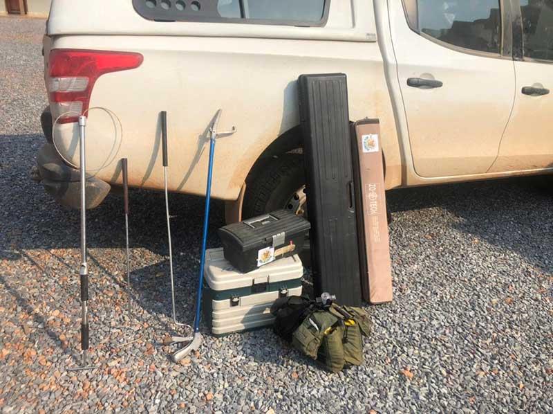 Equipamentos usados por equipes de resgate e ajuda aos animais — Foto: Sema-MT