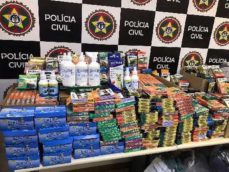 Operação da Polícia Civil apreende medicamentos veterinários falsos em Resende, RJ