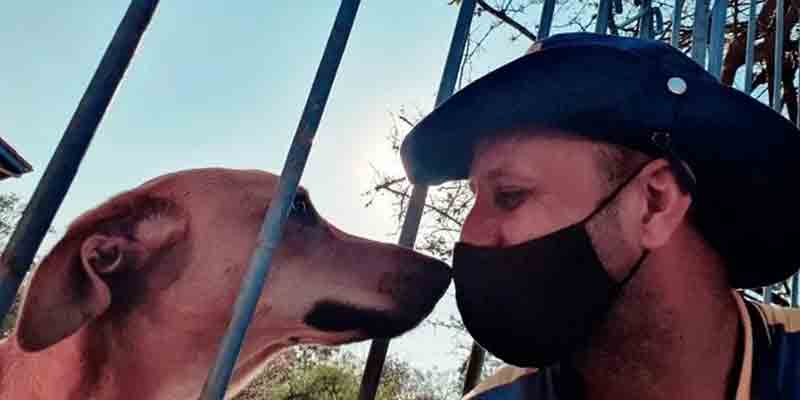 Amizade improvável: carteiro faz sucesso nas redes sociais ao postar selfies com animais
