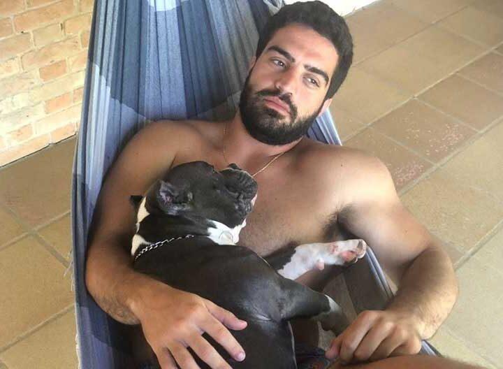 O engenheiro Giuliano Conte, de 29 anos, tutor do cão Weiser — Foto: Arquivo pessoal